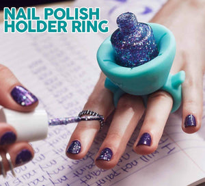 Nail Polish Holder Ring - Gem Owl
