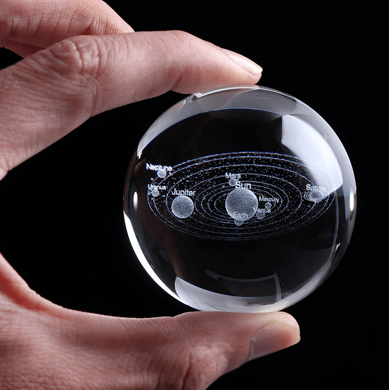 3D Planets Crystal Ball - Gem Owl