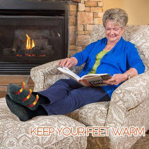 Extra-Insulated Fiber Heat Socks - Gem Owl