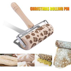 Embossing Christmas Rolling Pin