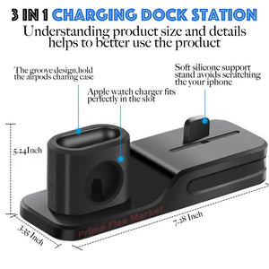 3 In 1 Charging Dock Station - Gem Owl