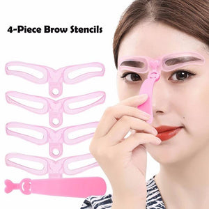 Instant Brow Shaping Stencil - Gem Owl