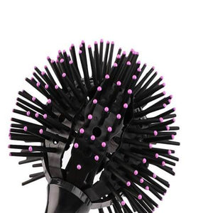3D Bomb Curl Hair Brush - Gem Owl