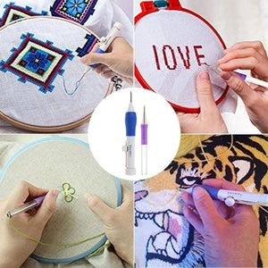 Embroidery Pen Knitting Sewing Tool Kit - Gem Owl