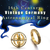16th Century Vintage Germany Astronomical Ring - Gem Owl