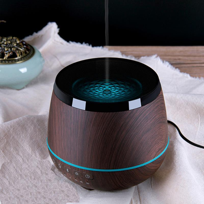 Aromatherapy Essential Oil Diffuser with Music Player 4 Colors LED - Gem Owl