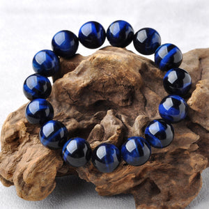 Blue Tiger Eye Bracelet - Gem Owl