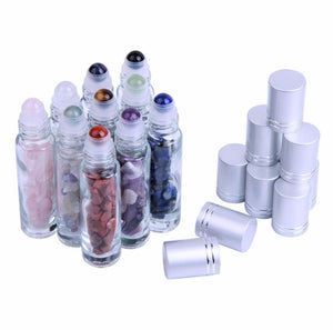 10ml Gemstone Glass Roller Bottles (10 Pack) - Gem Owl