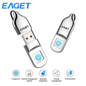 EAGET Fingerprint Encrypted USB Flash Drive - Gem Owl