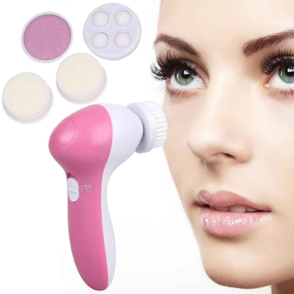 5 in 1 Electric Facial Brush Massager - Gem Owl