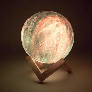 Galactic Moon Lamp - Gem Owl