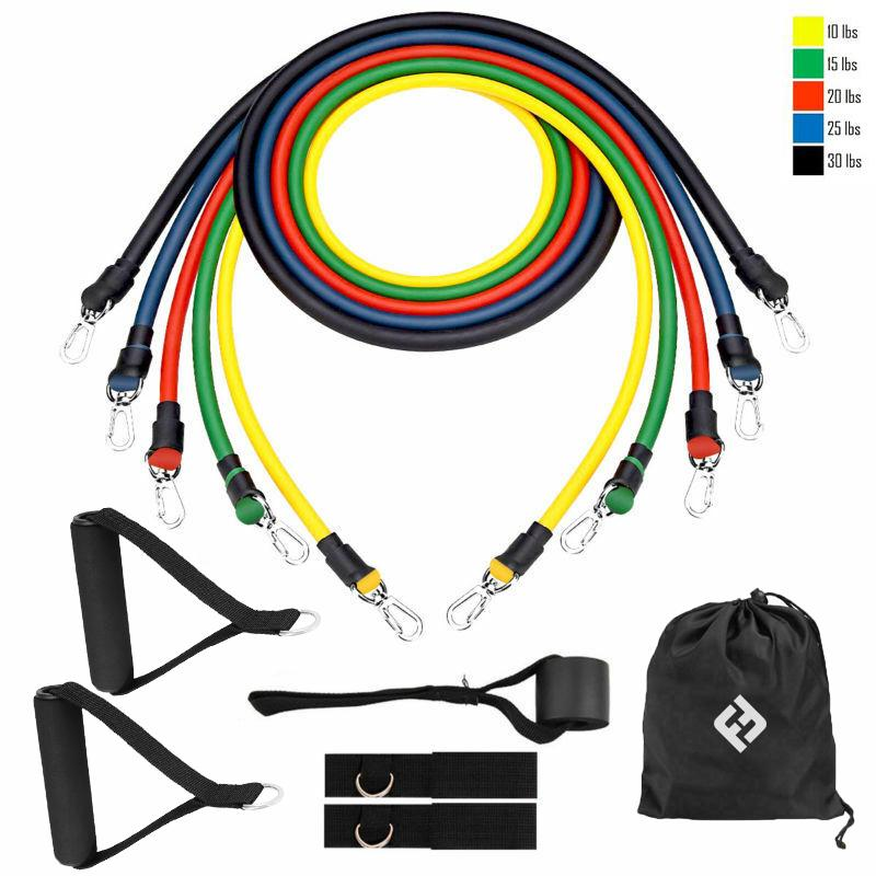 Resibands™ 11pcs Resistance Bands Set - Gem Owl