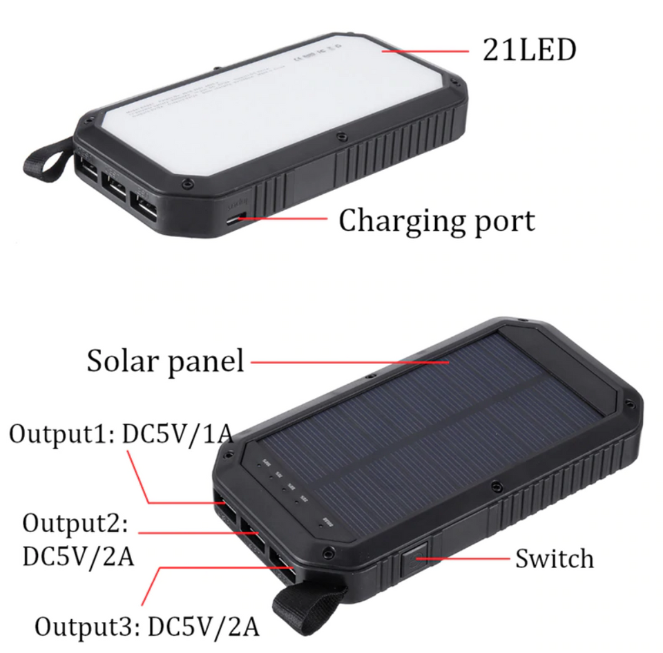 Wireless Solar Power Bank - Gem Owl