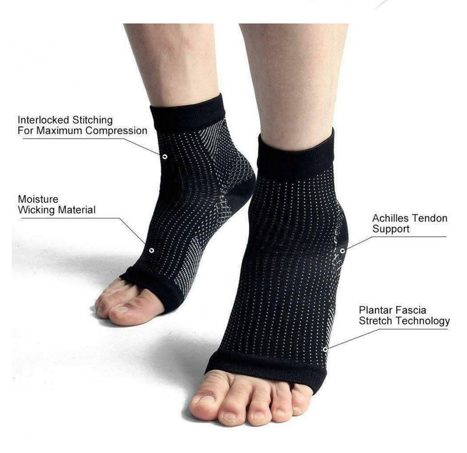 Anti Fatigue Compression Foot Sleeve - Gem Owl