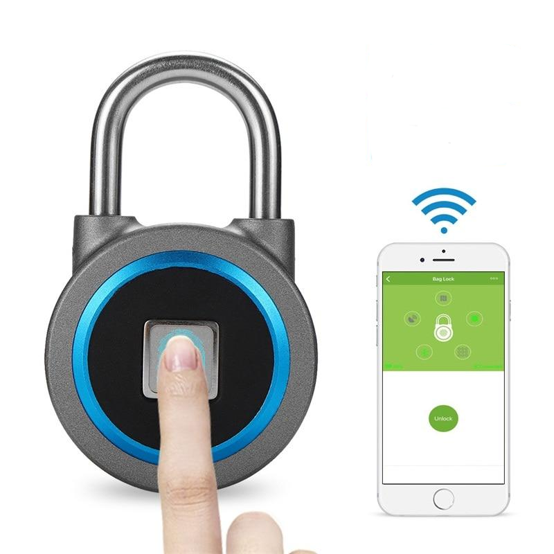 Smart Bluetooth Fingerprint Padlock - Gem Owl