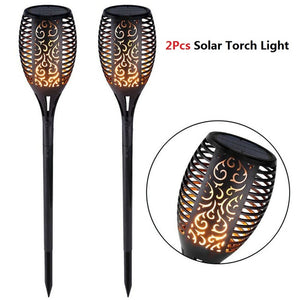 Outdoor Solar Flame Light Torch - Gem Owl
