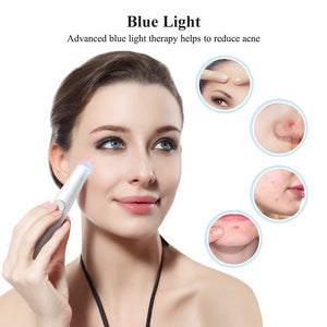 2-in-1 Red and Blue Light Therapy Laser Wrinkle Removal Pen - Gem Owl