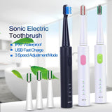 Ultra-Sonic Electric Toothbrush Set - Gem Owl