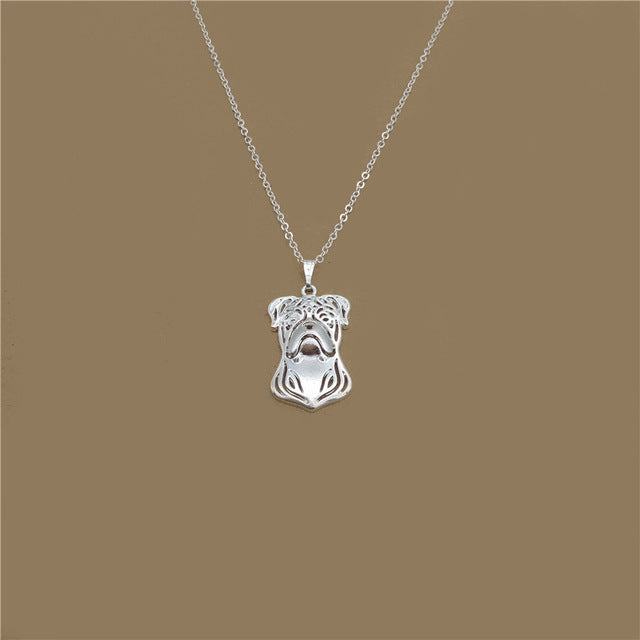 Pit Bull Terrier Necklace - Gem Owl