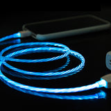 Flowing LED Charging Phone Cable - Gem Owl