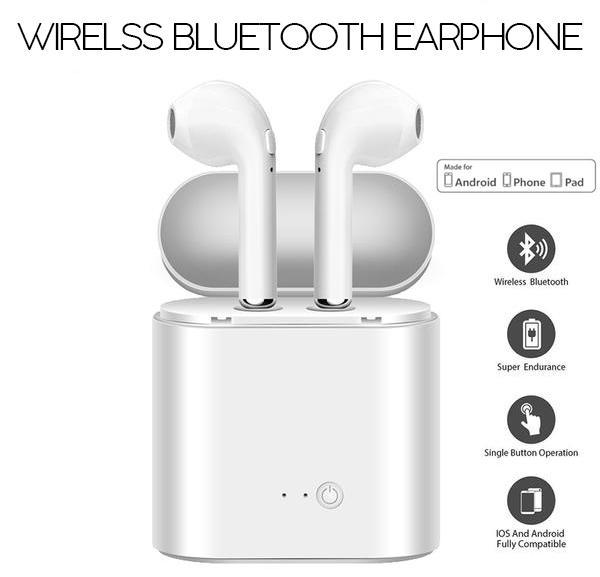 Wireless Bluetooth Earphone With Charging Box - Gem Owl