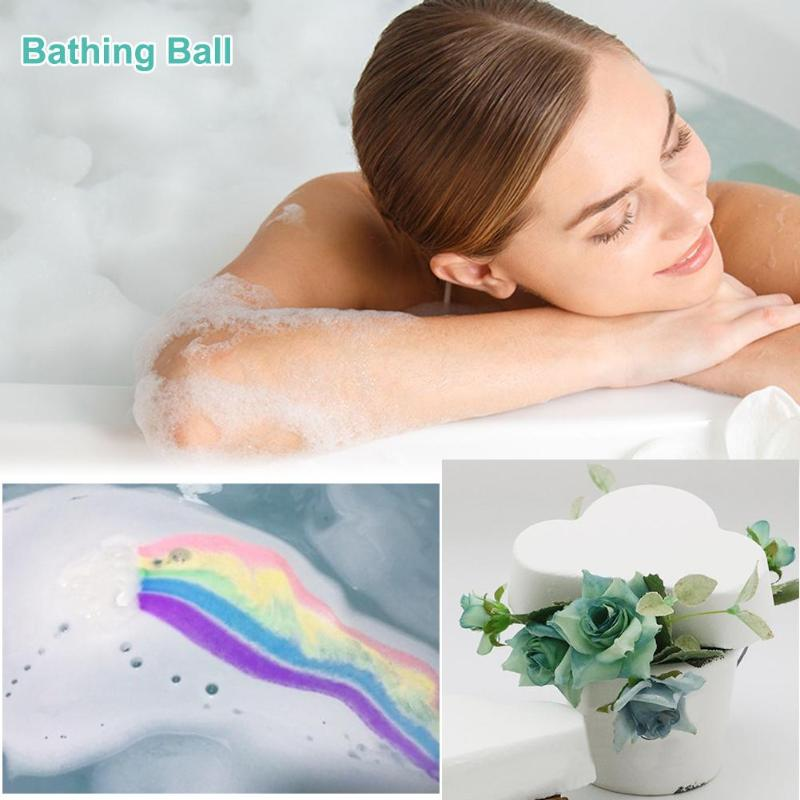 Rainbow Cloud Bath Bomb - Gem Owl