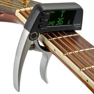 Guitar Capo With Built-in Tuner - Gem Owl