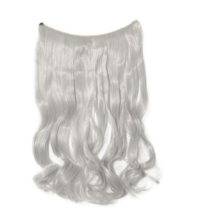 Silky Straight Real Natural Synthetic Invisible Wire No Clips in Hair Extensions - Gem Owl