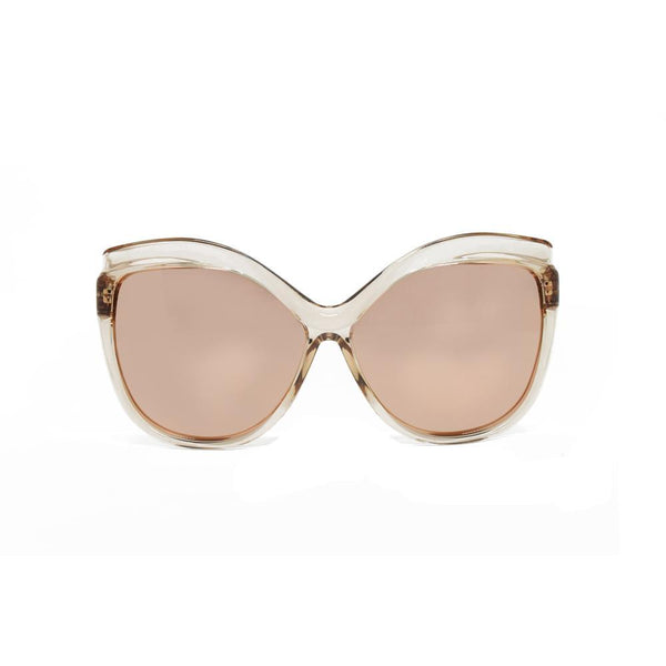 Linda Farrow 465 Oversized Sunglasses in Rose Gold