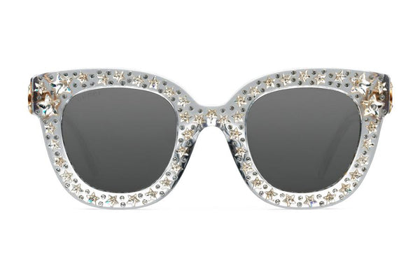 Gucci Cat Eye Acetate Sunglasses with Stars