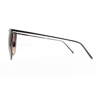 Linda Farrow 509 Browline Sunglasses In Nickel