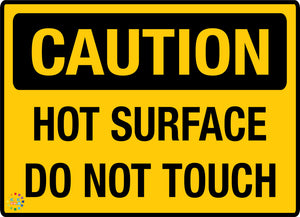 Hot Surface Do Not Touch Sign - K2K Signs