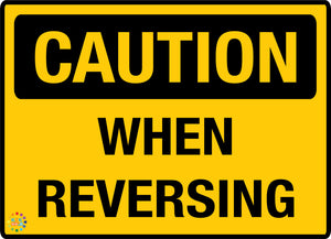 Caution When Reversing Sign - K2K Signs