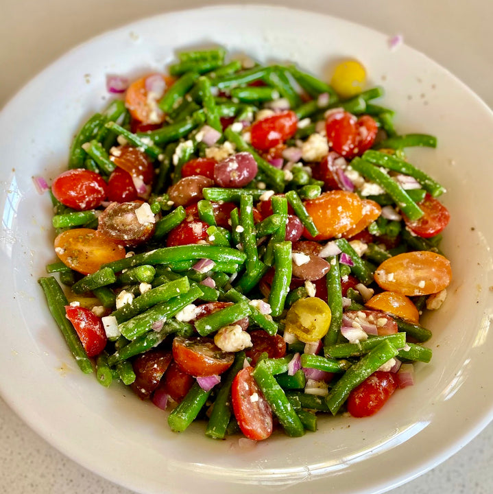 Green bean and tomato salad 🍅