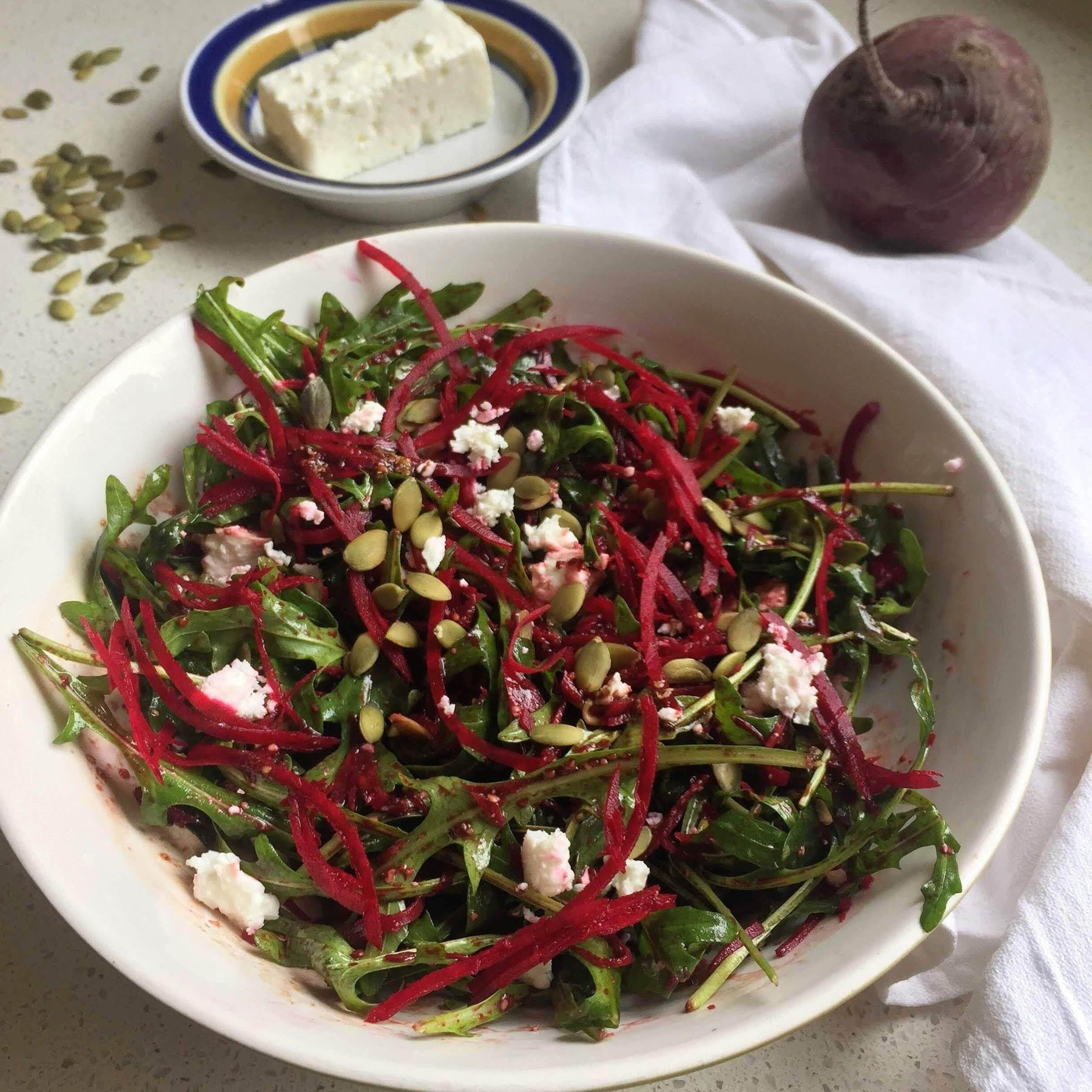 Beetroot, rocket and feta salad 🌱-Fresh Connection