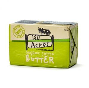180 Acres Organic Butter Salted 250g-180 Acres-Fresh Connection