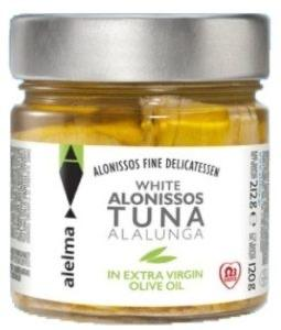 Alelma Allonisis White Tuna Fillets in EVOO 212g-Groceries-Alelma-Fresh Connection