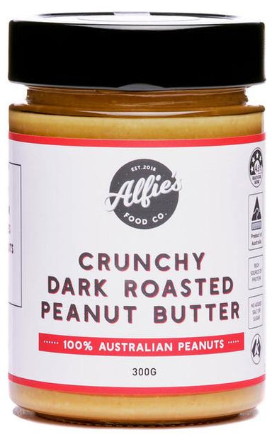 Alfie's Crunchy Dark Roasted Peanut Butter 300g-Groceries-Alfie's-Fresh Connection