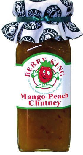 Berry King Mango Peach Chutney 280ml-Berry King-Fresh Connection