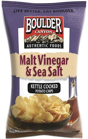 Boulder Canyon Malt Vinegar & Sea Salt Kettle Chips 142g-Boulder Canyon-Fresh Connection