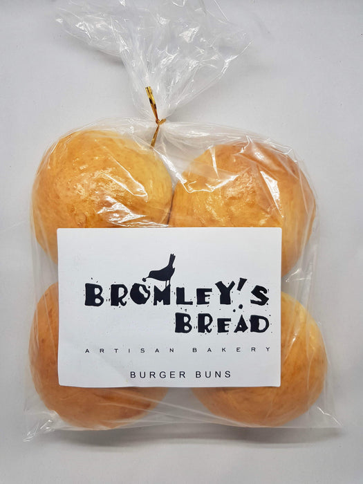 Bromley's Bread Burger Rolls - 4 pack-Bromley's Bread-Fresh Connection