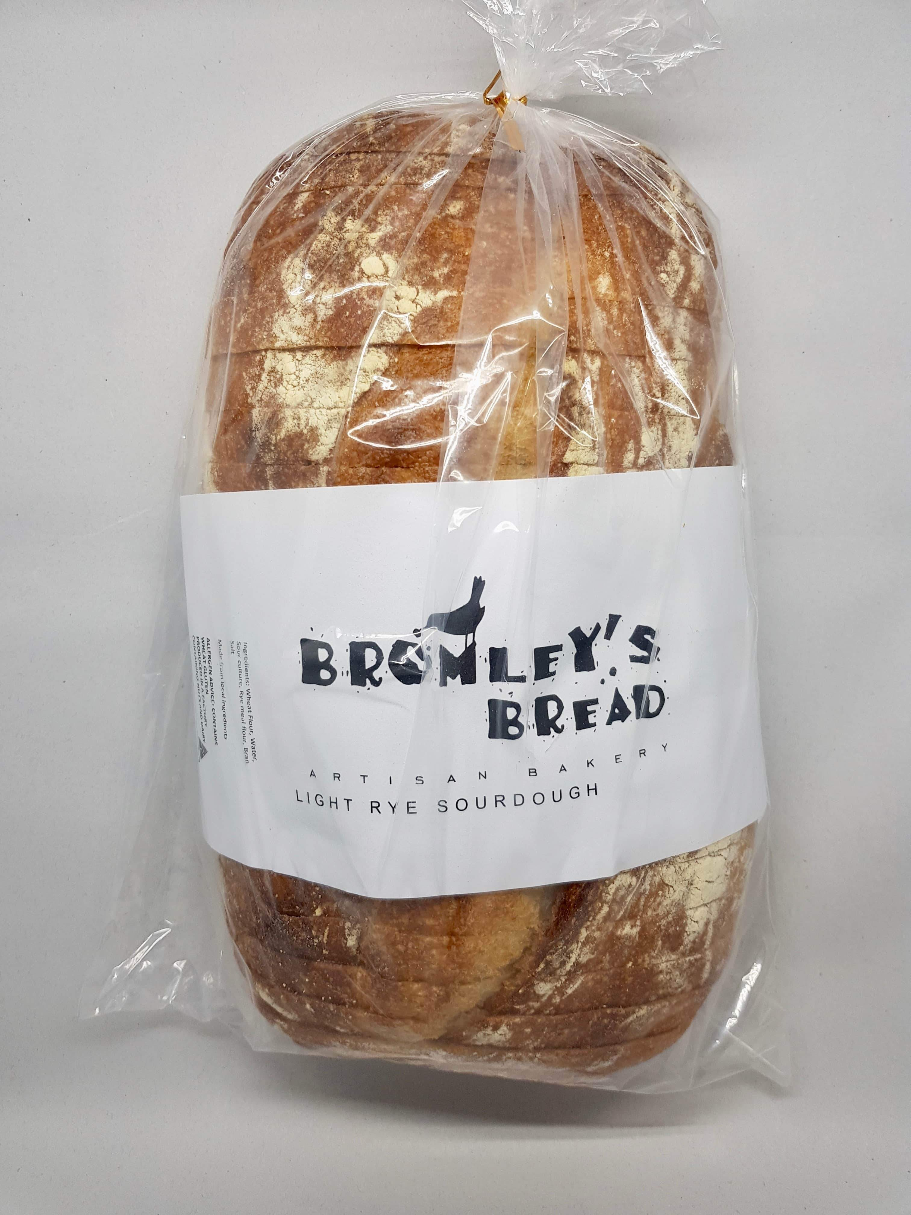 Bromley's Bread Light Rye Sourdough Sliced - 680g-Bromley's Bread-Fresh Connection