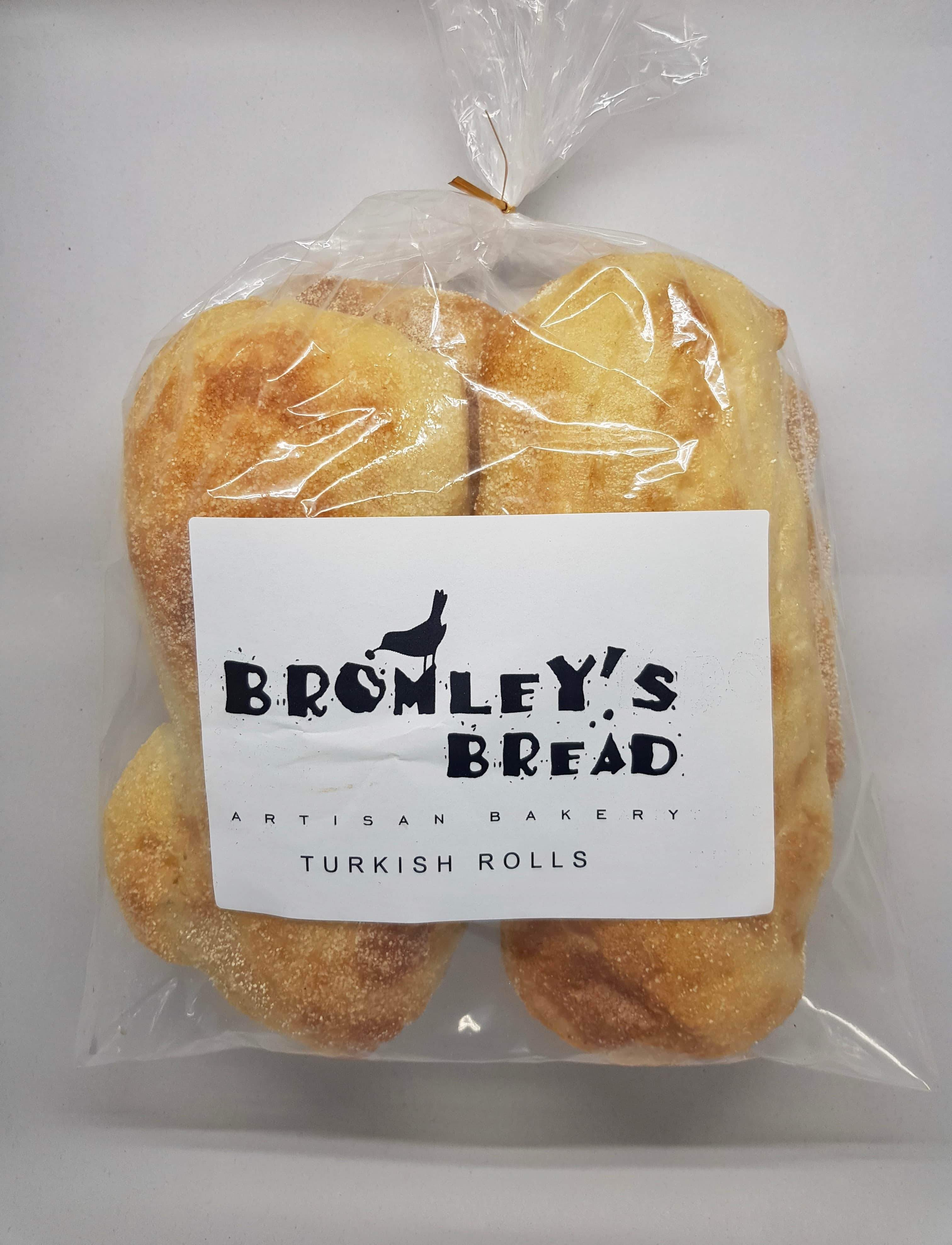 Bromley's Bread Turkish Rolls - 4 pack-Bromley's Bread-Fresh Connection