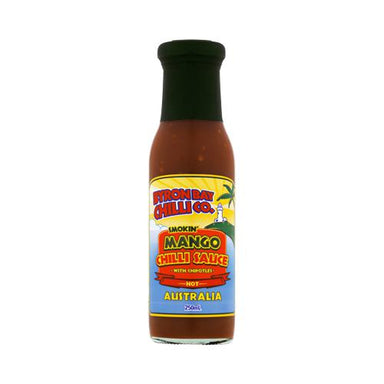 Byron Bay Chilli Co. Smokin Mango Chilli Sauce 250 ml-Groceries-Byron Bay Chilli Co.-Fresh Connection