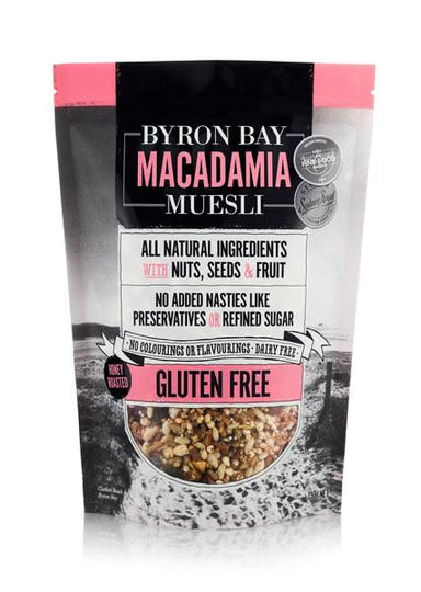 Byron Bay Macadamia Gluten Free Muesli 350g-Groceries-Byron Bay Macadamia Muesli-Fresh Connection