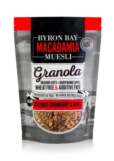 Byron Bay Macadamia Granola Coconut, Cranberry & Apple 400g-Byron Bay Macadamia Muesli-Fresh Connection