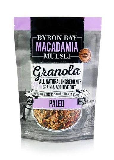Byron Bay Macadamia Granola Paleo 450g-Byron Bay Macadamia Muesli-Fresh Connection
