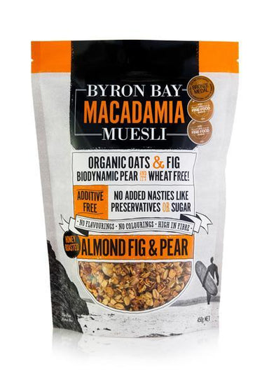 Byron Bay Macadamia Muesli Almond, Fig & Pear 450g-Byron Bay Macadamia Muesli-Fresh Connection