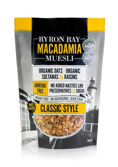 Byron Bay Macadamia Muesli Classic 400g-Byron Bay Macadamia Muesli-Fresh Connection