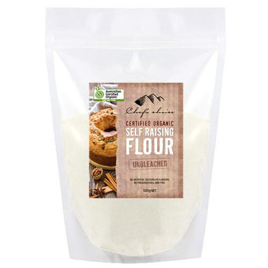 Certified Organic Unbleached Self Raising Flour 500g-Groceries-Chef's Choice-Fresh Connection